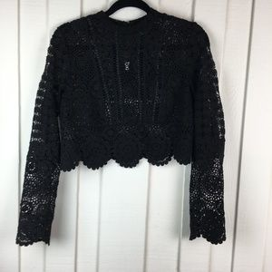 ASOS Crochet Cropped Cardigan